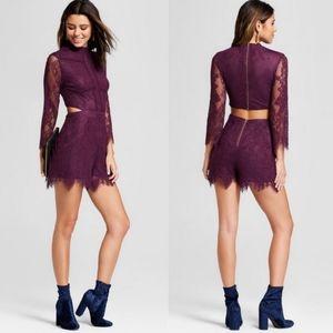 BNWT Purple Lace Romper 💜